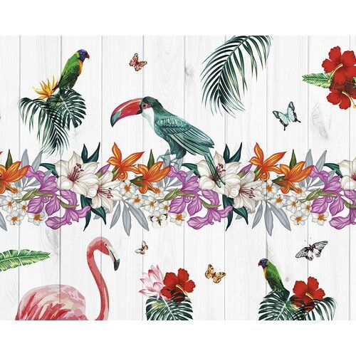 Birds Of Paradise Wallpaper Bold Large Scale Floral In 2020 With Images Paradise Wallpaper Bird Wallpaper Large Scale Floral