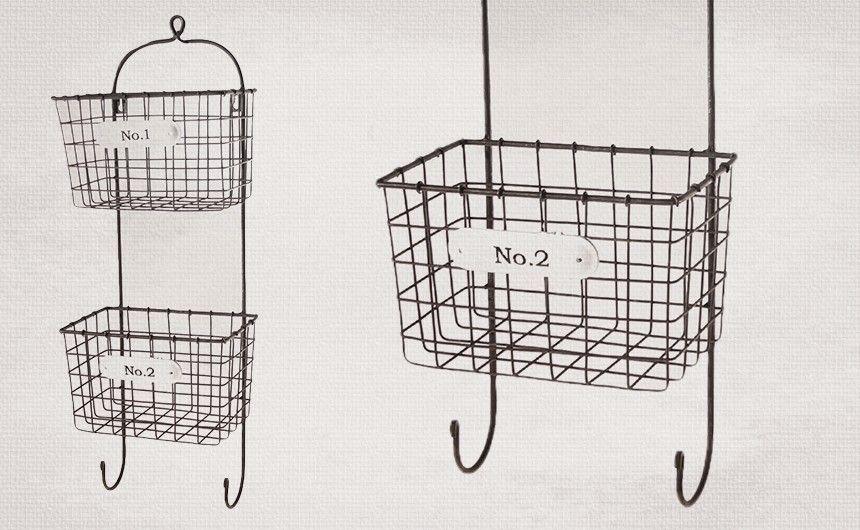 $32.50 Hanging Baskets, Wall Hanging Baskets, Wire Basket Storage