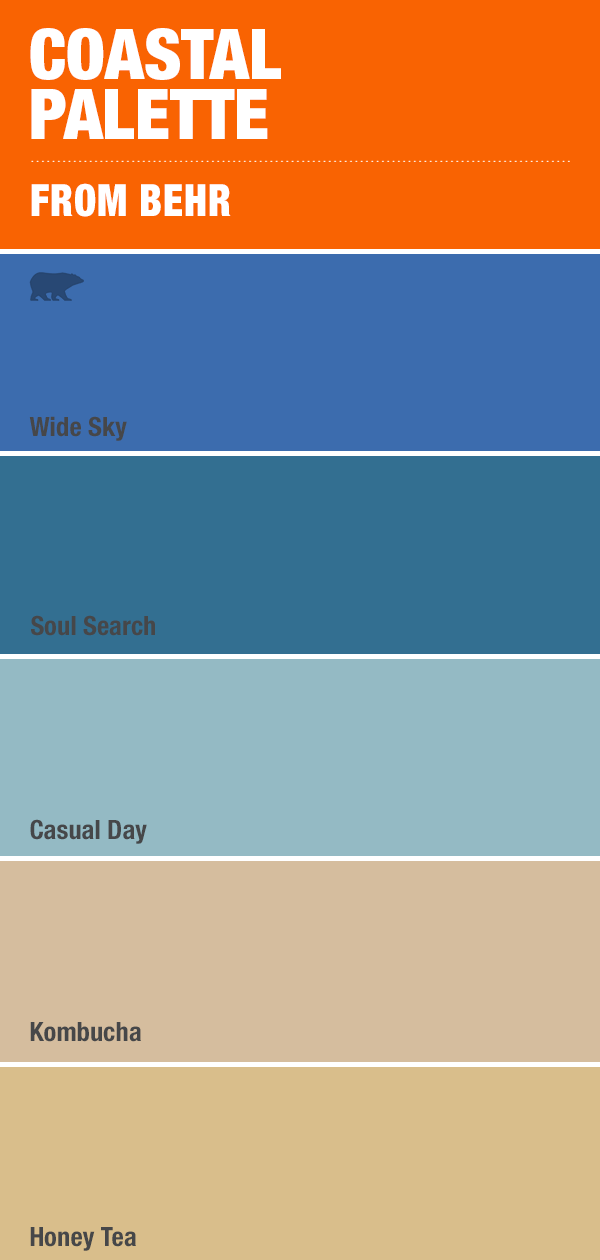 Beach Vibes And Blue Hues Are All The Rage In This Trending Color Palette Find Them Today At Homedepot