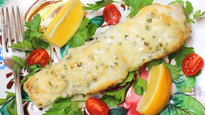 blue cheese baked halibut recipe  food  recipe in 2020  halibut recipes halibut recipes