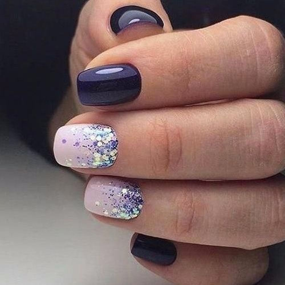 26 Perfect Glitter Nail Designs For Winter To Create Elegant Impression Winter Nails Nails Winter Nail Art