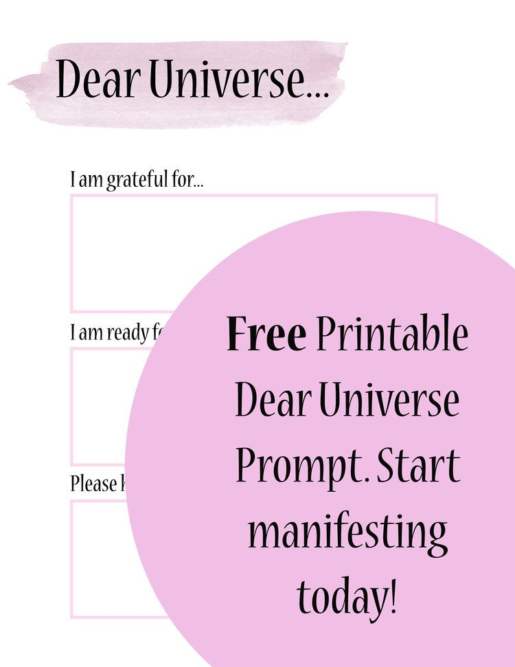 Manifesting through letters to the universe law of