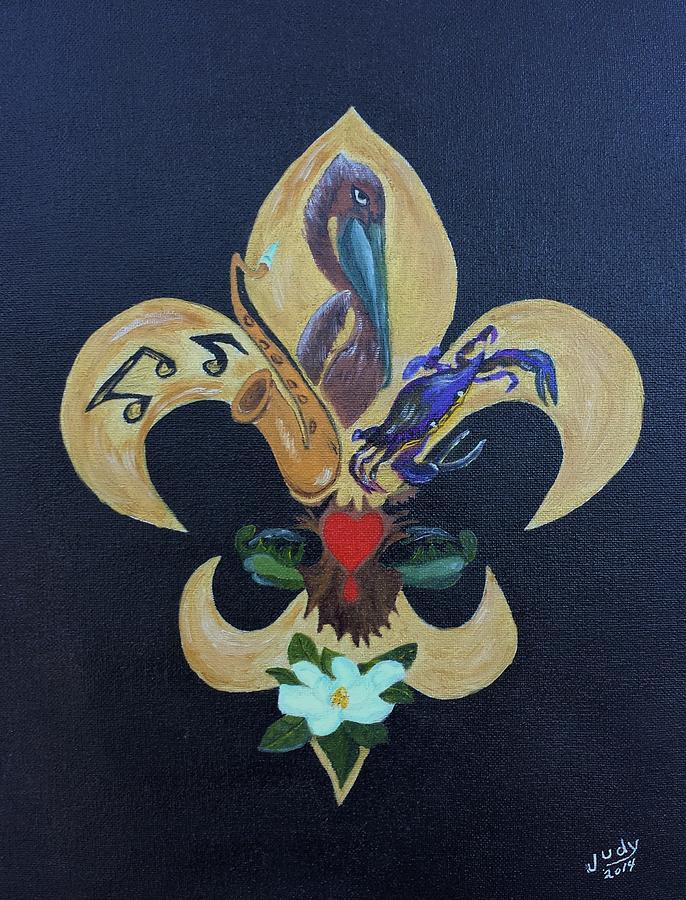 Fleur De Lis New Orleans Style America art, Fleur de lis