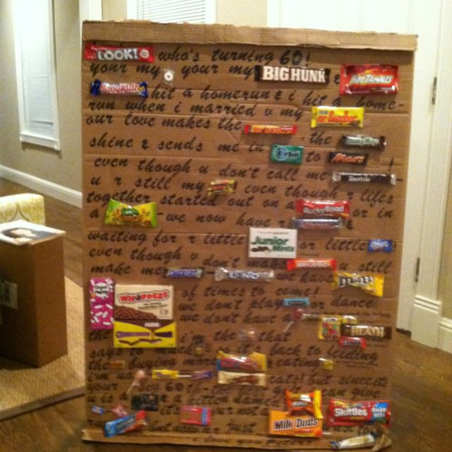 Happy Birthday Card Made With Candy Bar In Place Of Some