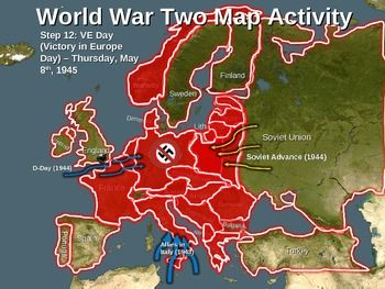 World War Two (WWII) Map Activity; EUROPEAN THEATER Fun, Interactive ...