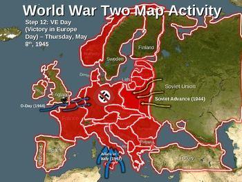 World War Two (WWII) Map Activity; EUROPEAN THEATER Fun ...