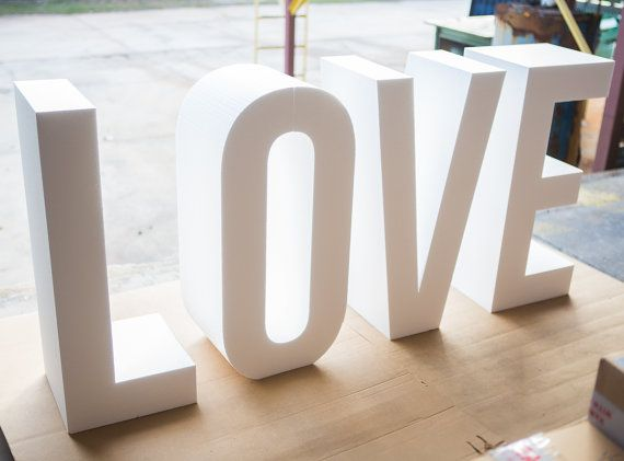these large foam love block letters are a perfect addition to your wedding day or party