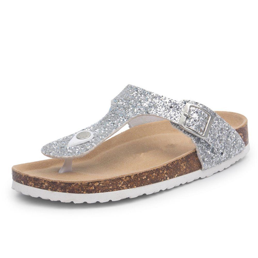 a219f69cf Fashion Cork Women Glitter Flip Flops Summer Beach Shinny Sandals Shoes  Floral  FashionCorkChina  FlipFlops