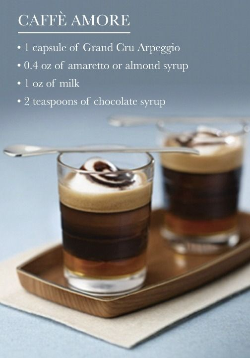 The wonderful flavor combination of almond and chocolate is at it again with this Caffè Amore recipe. This Nespresso Grand Cru coffee creation is sure to delight your senses after just one sip!