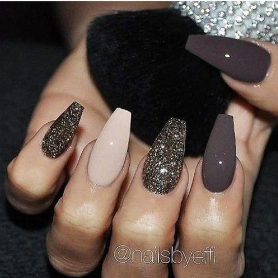 61 Coffin Gel Nail Designs For Fall 2018 You Will Love Fallnails Coffinnails Gelnails Jewenails In 2020 Classy Nail Designs Gorgeous Nails Fall Nail Art Designs
