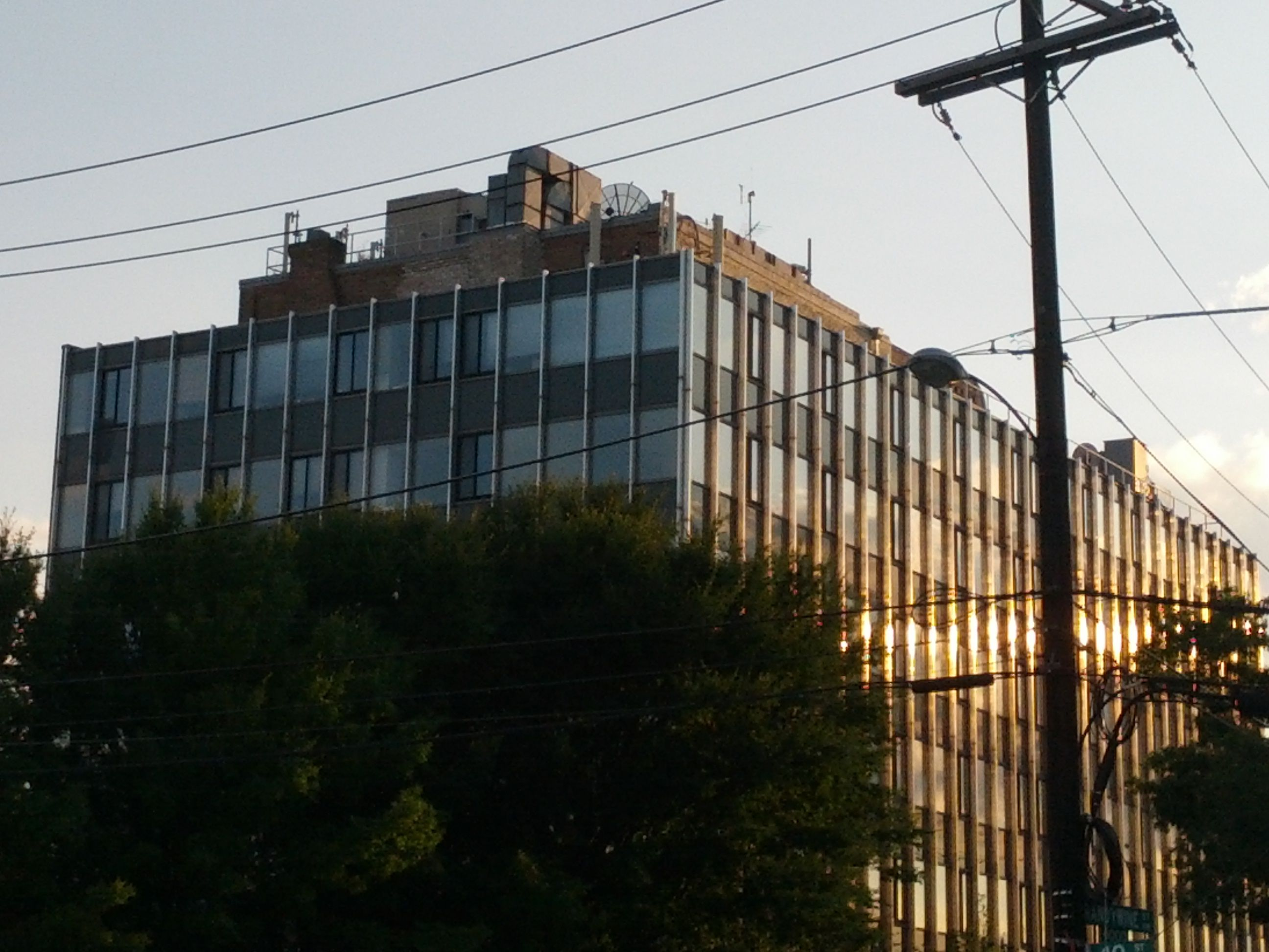 Tenleytown building at sunset