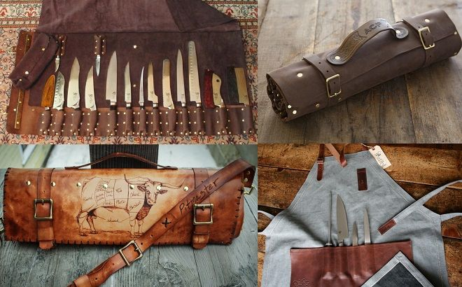 goodson leather knife roll linny kenney knife roll blunt roll apron knife roll. Black Bedroom Furniture Sets. Home Design Ideas