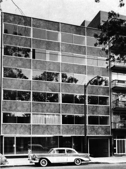 Hotel Saratoga, av. Álvaro Obregón 38, Roma Norte, Cuauhtémoc, México DF 1962 (destruido) Arq. Héctor Alonso Rebaque - Hotel Saratoga, av. Alvaro Obregon 38, Roma Norte, Cuauhtemoc, Mexico DF 1962 (destroyed)