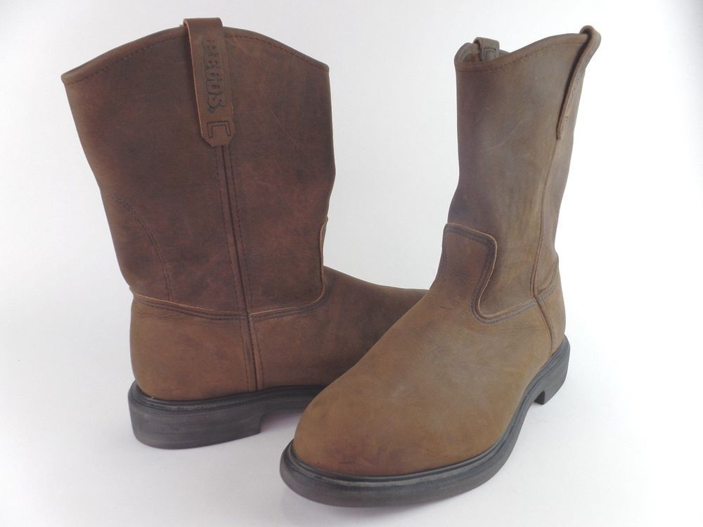 155a7c8e393 Men's Red Wing Slip On PECOS Boots. #1124. Brown Leather Size 14 E2 ...