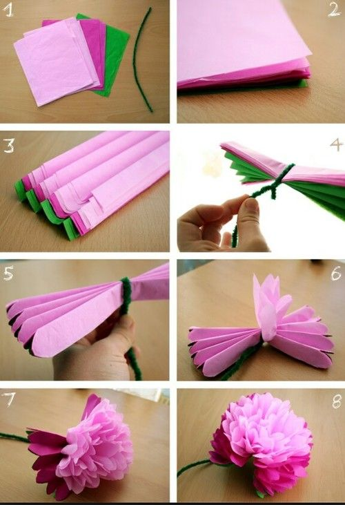 Tissue paper flowers decoration idea pinterest tissue paper tissue paper flowers mightylinksfo