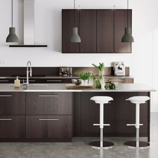 Ett kök med EKESTAD kökslucka i brun Kjøkken Pinterest Ikea - küchenrückwand ikea erfahrungen