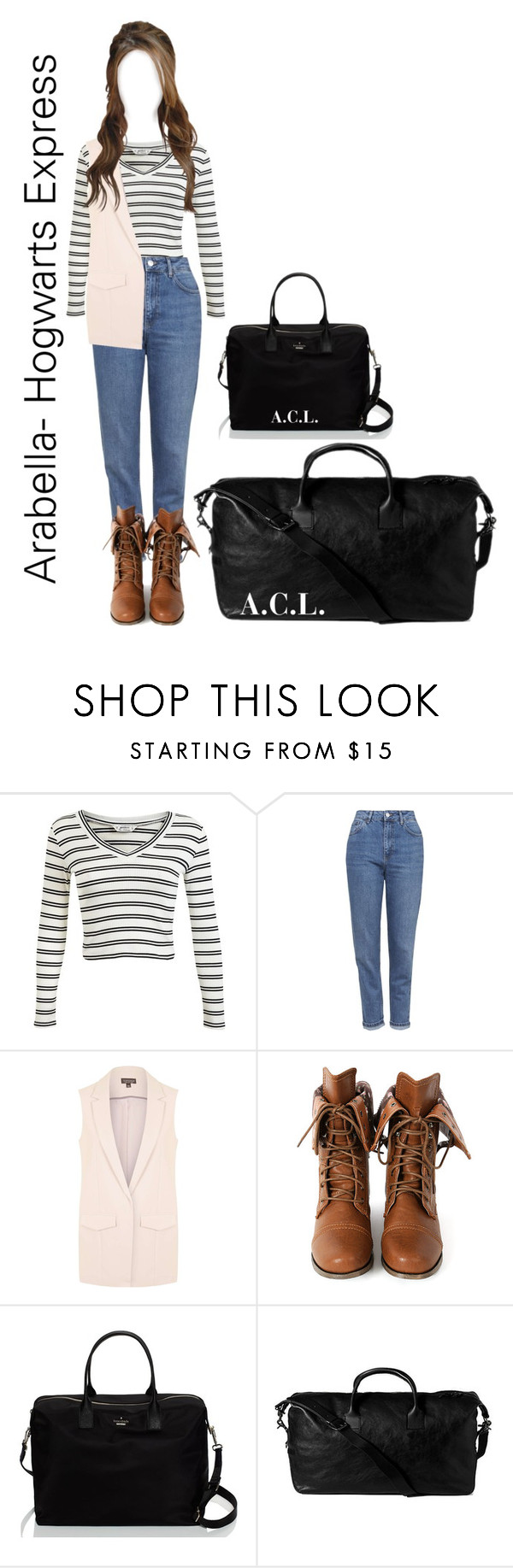 """""""""""Malfoy's Girl""""//Arabella Loveheart-Hogwarts Express"""" by forever-a-kaitlyn ❤ liked on Polyvore featuring Miss Selfridge, Topshop, Wild Diva and Kate Spade"""