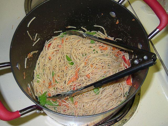 Sesame Hummus Noodles 006 by almostvegan, via Flickr