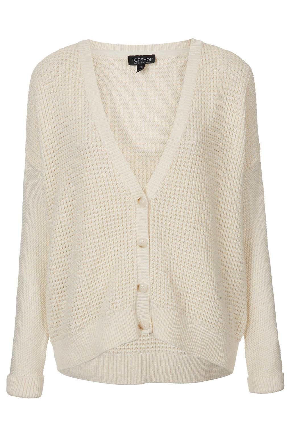 The perfect white cardigan for breezy summer nights [Knitted Short Grunge Cardi @ Topshop $72]