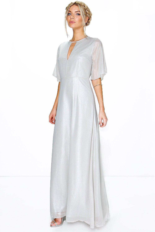 087d6cbf4ad8 Boutique Ivy Shimmer Fabric Keyhole Maxi Dress at boohoo.com