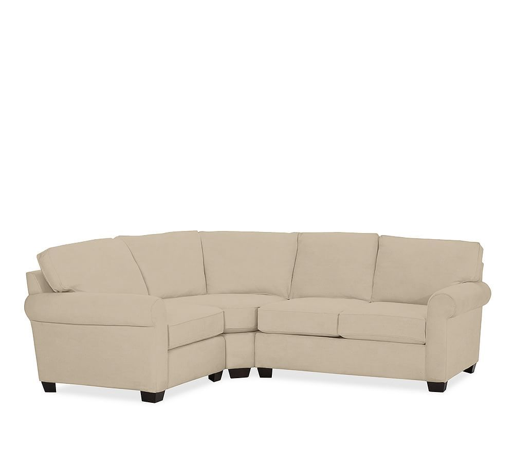 Astounding Buchanan Roll Arm Upholstered Curved 3 Piece Sectional With Onthecornerstone Fun Painted Chair Ideas Images Onthecornerstoneorg