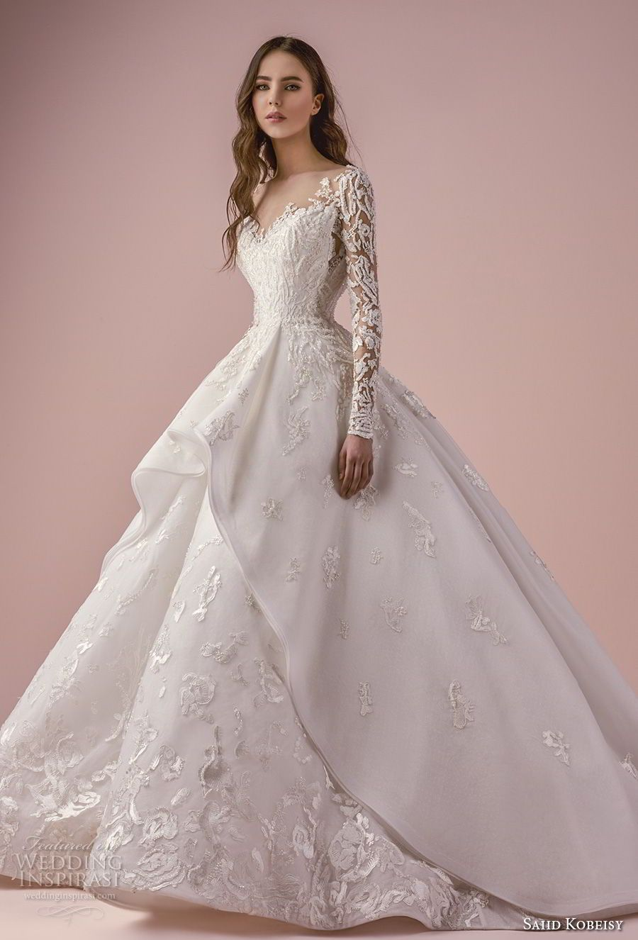 Saiid kobeisy wedding dresses chapel train ball gowns and