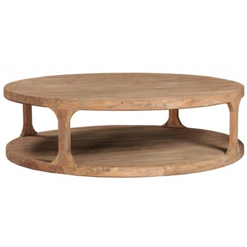 Big Round Reclaimed Wood Coffee Table 2 Sizes Wood Coffee Table