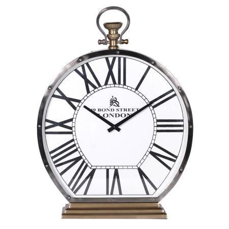 Nickel Satin Chrome London Mantel Clock