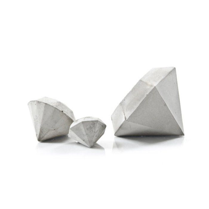 Etsy Roundup: Scandinavian Decor | Hold down those important documents with these chic cement paper weights in classic Scandinavian style. See more of this Nordic style at TheTwinsNextDoor.com