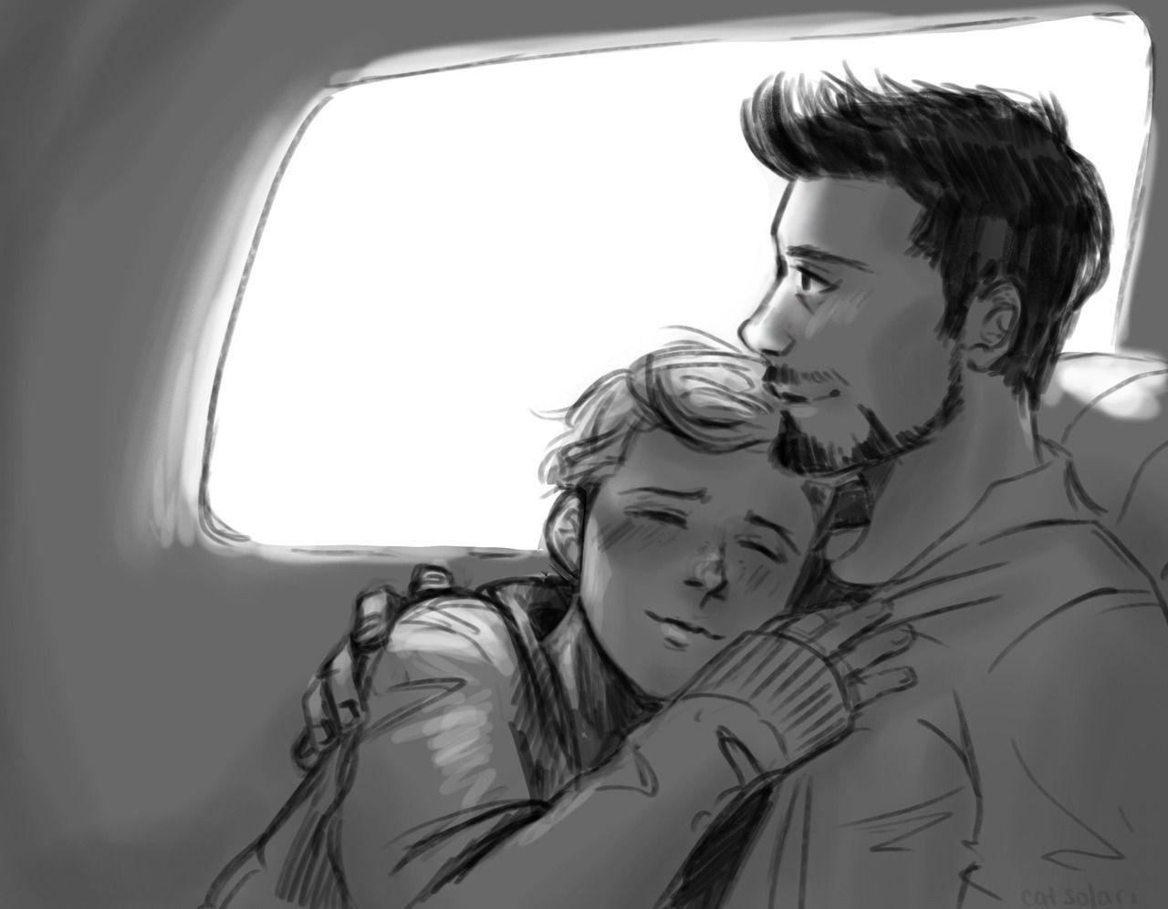 "cat-solari: ""Just fluff- Sleepy Peter with Tony ""   irondad"
