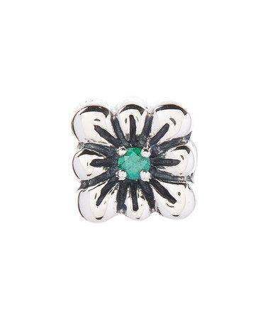 This Green Swarovski® Zirconia & Sterling Silver Flower Bead is perfect! #zulilyfinds