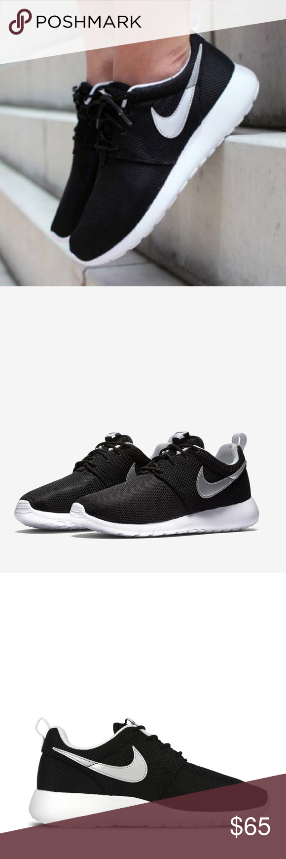69748e8748a3 Nike Roshe one run black white shoes metallic new BRAND NEW WITHOUT ...