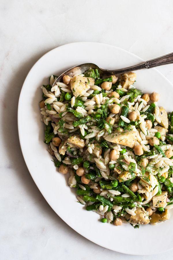 Simple Vegan Spring Lemon Orzo Pasta Salad