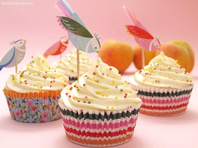 Cupcakes de melocotón - MisThermorecetas