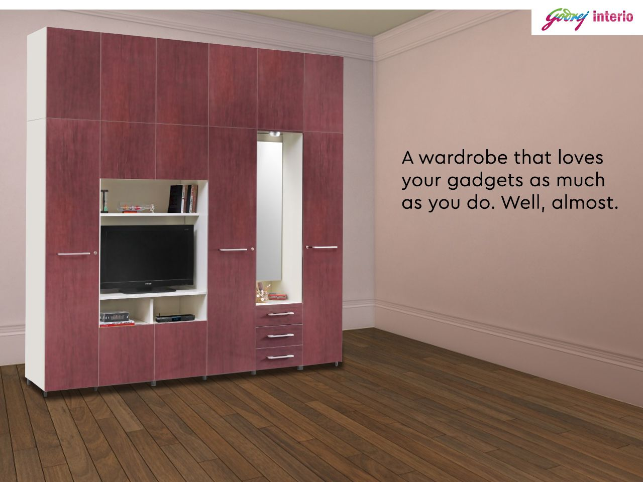 Wiring Is Easy On The Kreation We Ve Built A Space Just For It Explore The Collection Here Wooden Wardrobe Almirah Designs Buy Furniture Online