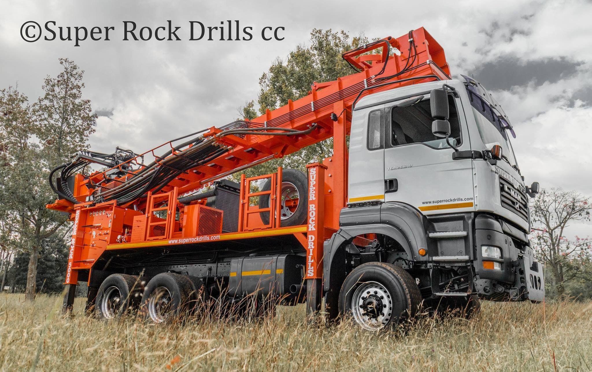 A super rock 5000 rc rig manufactured by super rock drills