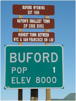 Buford Wyoming Population 1 Iconic Signs Other Fun Things