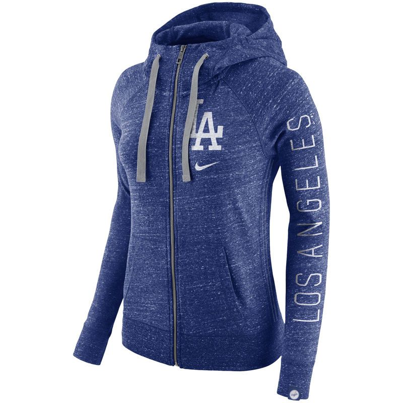 0d491b27050b7 Los Angeles Dodgers Nike Women's Vintage Full-Zip Hoodie - Royal in ...