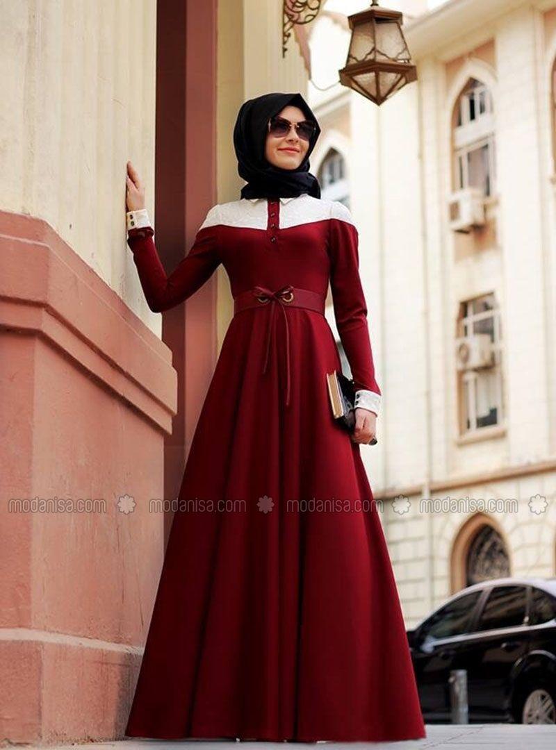 6d1295a2d9692 Elite Lace Dress - Ecru - Gamze Polat | Muslimah Fashion & Hijab ...