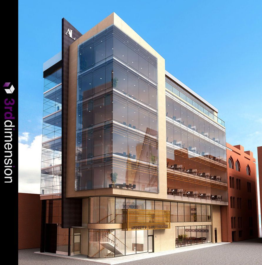 Small Spaces Architects Dublin Ireland Houses: Architectural Rendering, Proposed Office