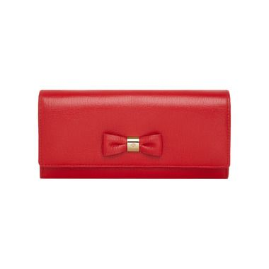 7bedb4287bd5 Mulberry Chinese New Year Gifts - Bow Continental Wallet in Bright Red  Shiny Goat