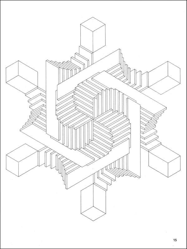 Optical Illusion Coloring Page Found At Http Printablecolouringpages Co Uk S Optical 20ill Geometric Coloring Pages Optical Illusions Mandala Coloring Pages