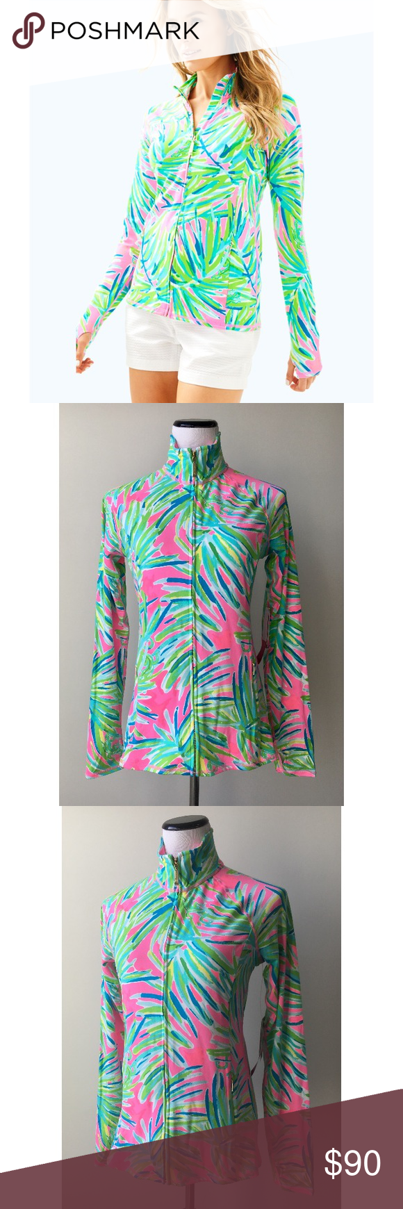 0c5a4b60f1e3e2 Lilly Pulitzer Luxletic Serena Jacket Serena Luxletic fitted and printed  jacket • new with tags 🏷 •