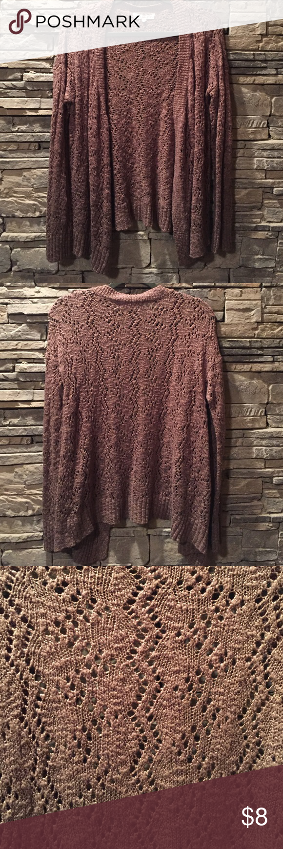 Tan/Light Brown Crochet Cardigan Great condition! Sweaters Cardigans