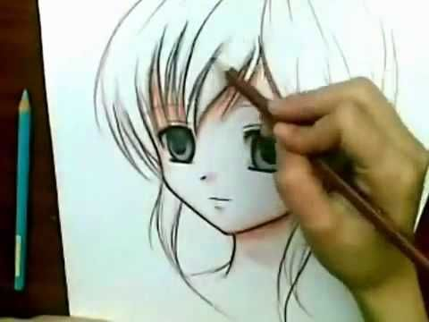 Dibujando Anime Con Lapices De Colores Como Dibujar Animes Dibujos De Anime Imagenes Para Dibujar