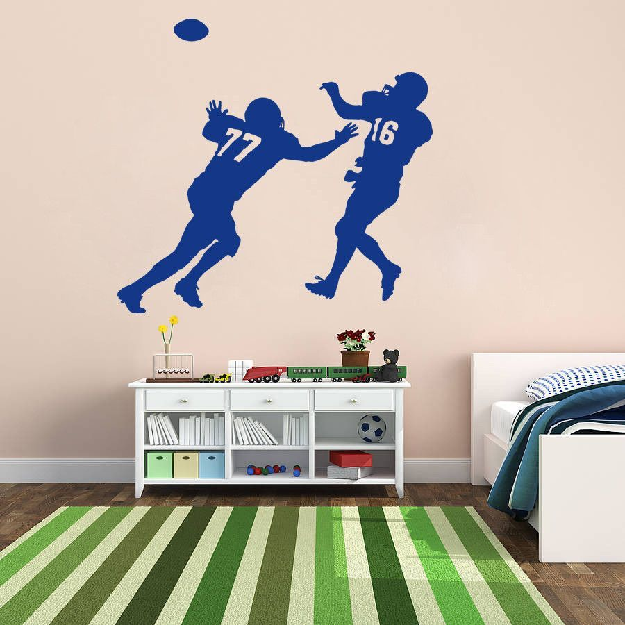 Ik Wall Decal Sticker Rugby Football Sports Living Childrens - Sporting wall decals