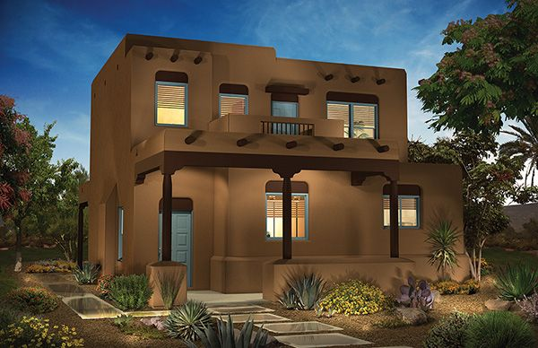 Flat Roof Home Pulte Homes Pueblo House Styles