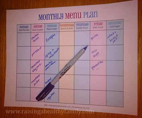 printable monthly menu plan with theme ideas fastest way to plan healthy meals ever