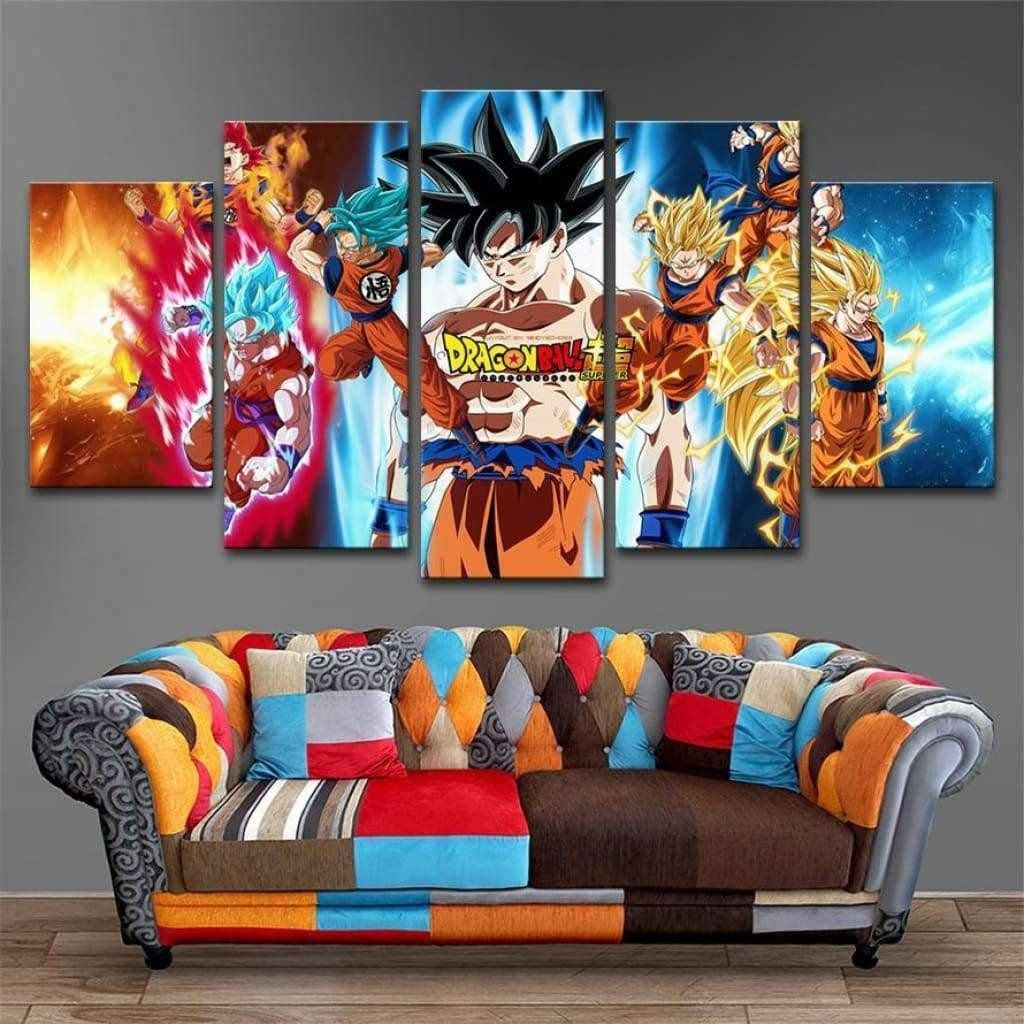 Tableau Dragon Ball Z Sangoku Super Guerrier Dragon Ball Wall Art Living Room Decor Frames Anime Dragon Ball Goku