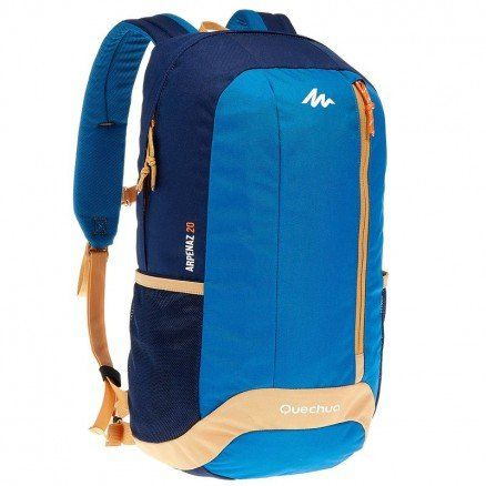 694296d393 XSports Decathlon Quechua Hiking Camping Water Repellent Backpack Arpenaz  20L BlueBeige -- Check out the image by visiting the link.